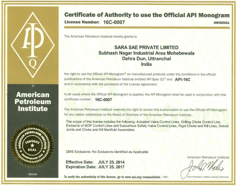 Api Approved Manufacturer Api Approved Exporter Api